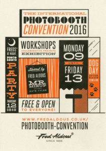 The International Photo Booth Convention 2016 - Flyer